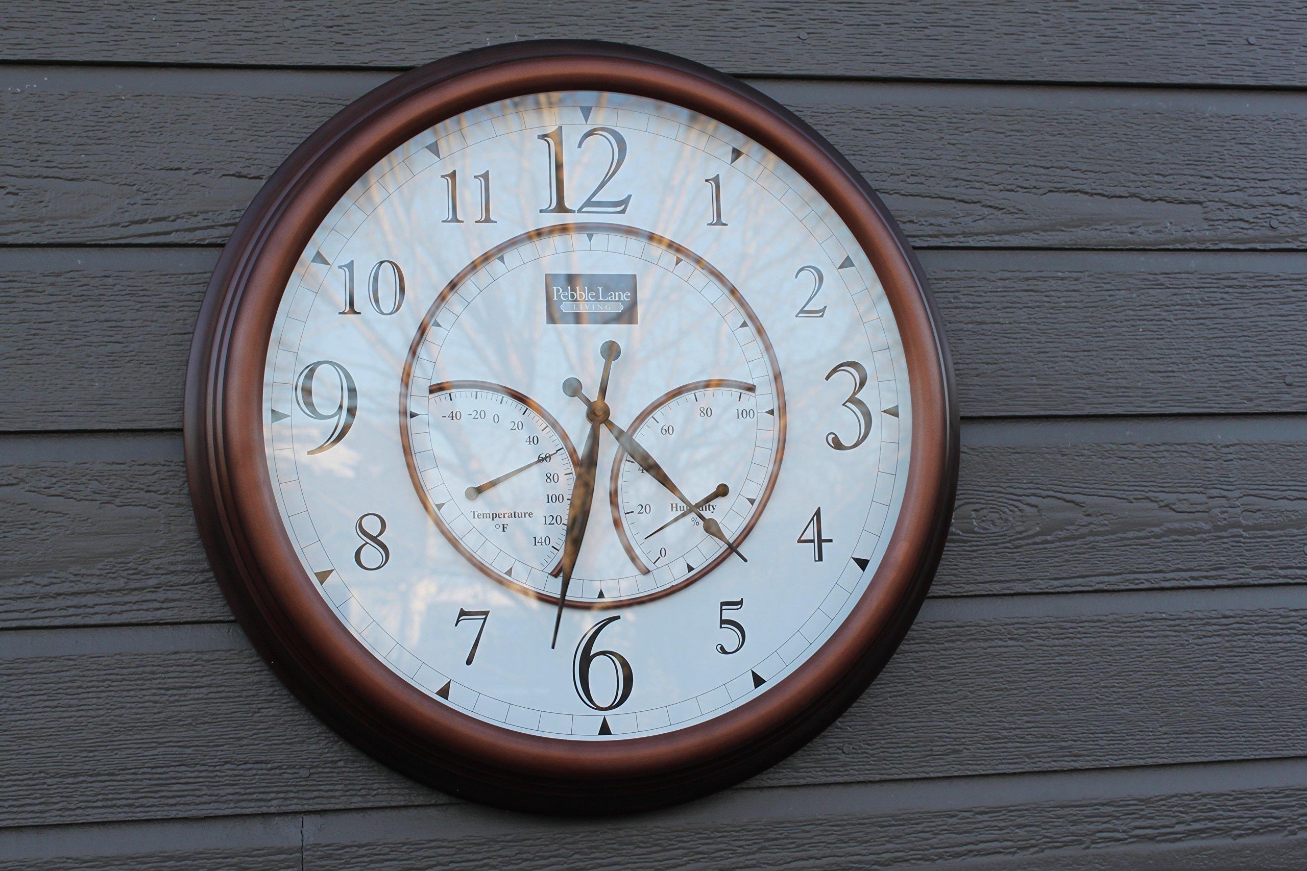 Pebble Lane Living 24'' Outdoor Clock - Copper (Copper)