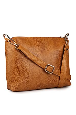 Classic Fashion Women's Sling Bag(Tan,Cfs1008): Amazon.in ...