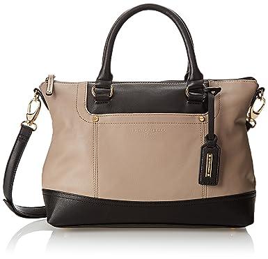 Tignanello Bags Smooth Operator Convertible Satchel Mushroom/Black - Handbags