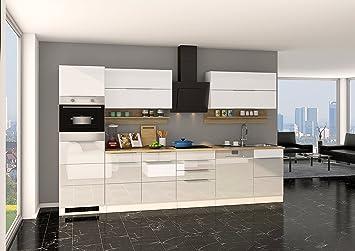Held Möbel 626.1.6176 Neapel Küche, Holzwerkstoff, hochglanz weiß ...