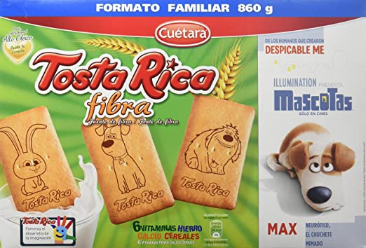 Tosta Rica Fibra Caja De Galletas - Paquete - Total: 860 gr - [Pack