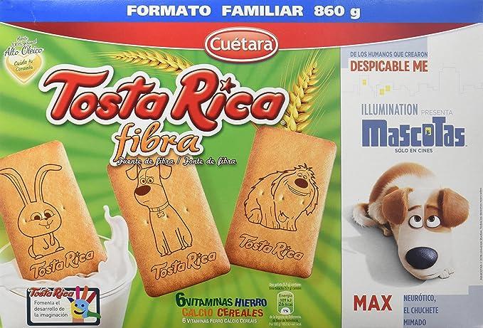 Tosta Rica Fibra Caja De Galletas - Paquete de 9 x 95.56 gr - Total: