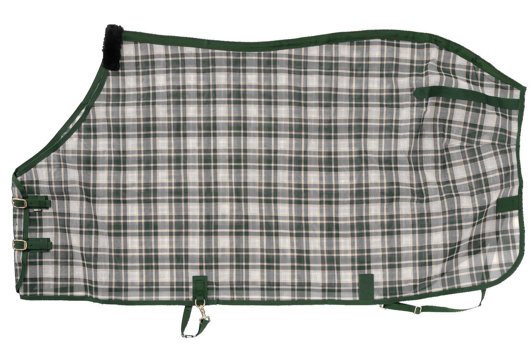 Tough 1 PVC Coated Mesh Tri-Shield Fly Sheet, Hunter Green, 81''