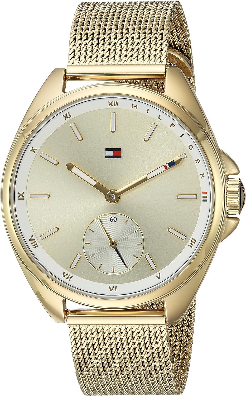 Tommy Hilfiger Reloj de deporte de cuarzo y Casual de acero inoxidable para las mujeres, color: TONO DORADO(modelo: 1781757)