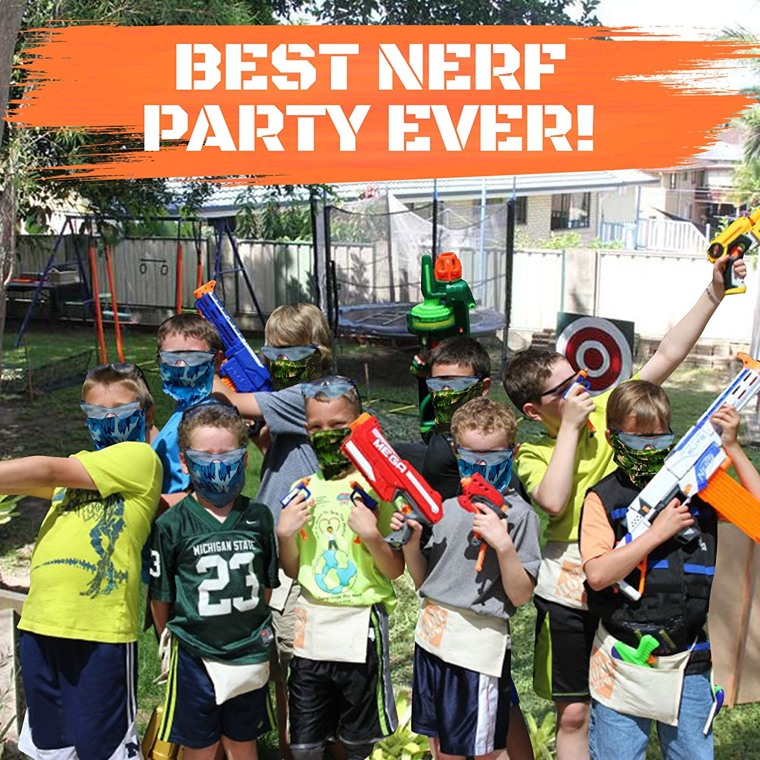 Accessories. Nerf Birthday Party Favors 12 Kids Wishery Nerf Party Supplies Compatible with Nerf Guns