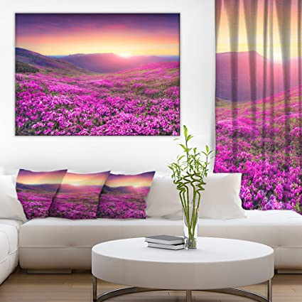 Amazon.com: Purple Rhododendron Flowers in Mountains Large Landscape ...
