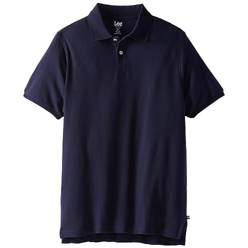 Lee Uniforms Mens Modern Fit Short Sleeve Polo Shirt