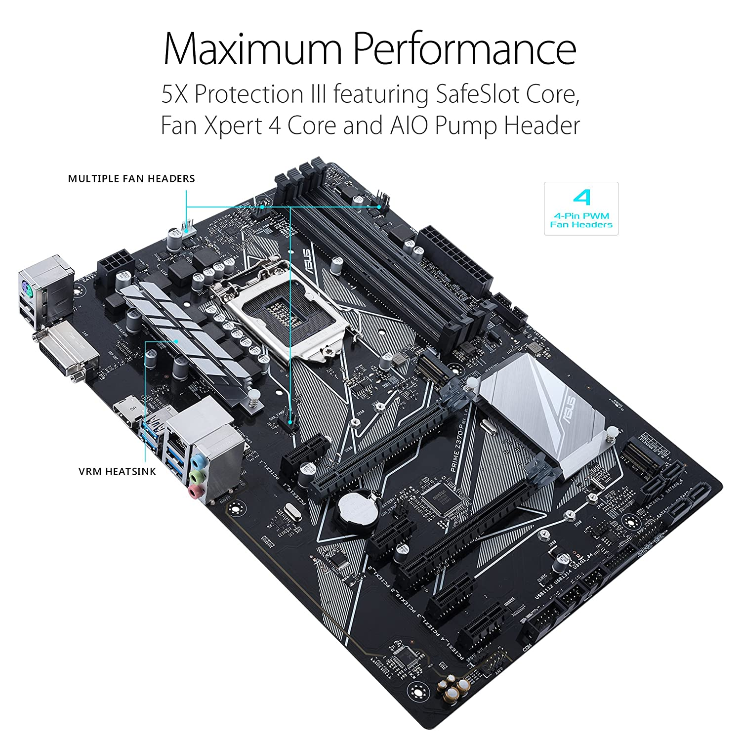 Asus Prime Z370 P Lga1151 Ddr4 Hdmi Dvi M2 Atx Motherboard Layout Diagram 3 With Usb 31 For 8th Generation Intel Core Processors Computers Accessories
