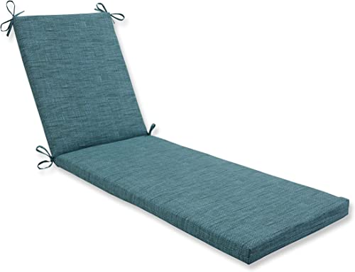 Pillow Perfect Outdoor Indoor Remi Lagoon Chaise Lounge Cushion, 80 in. L X 23 in. W X 3 in. D, Blue