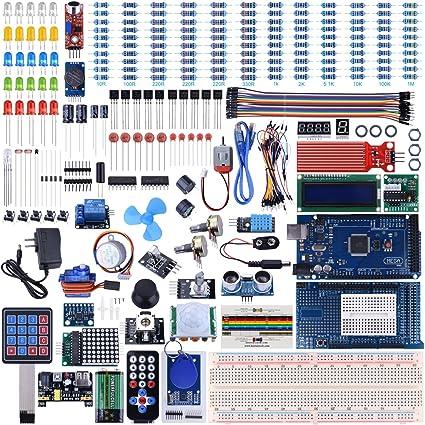 Kit de Mega2560 Arduino con Tutorial, UNIROI Kit de Inicio Más Completo con Sensor de