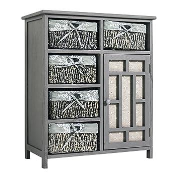 Meuble salle de bain avec panier en osier beau meuble for Meuble bas avec panier osier