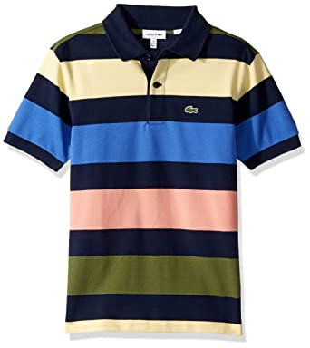 591e75b0 Amazon.com: Lacoste Boy Colorful Striped Pique Polo: Clothing