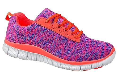 gibra - Zapatillas de tela para mujer, color rosa, talla 38 EU
