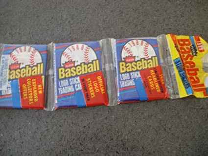 Amazoncom 1988 Fleer Baseball Cards Pack Of 45 Cards With 3 Logo