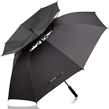 Golf Umbrella 62u201d Extra Large Double Vented Canopy by Sis-Tek Unique Windproof Automatic  sc 1 st  Amazon.com & Amazon.com : Golf Umbrella 62