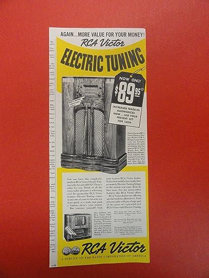 Amazon com: RCA Victor Radio Print Ad  tuning model 87K-1