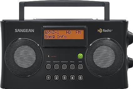 Sangean HDR-16 HD Radio//FM-Stereo//AM Portable Radio Black