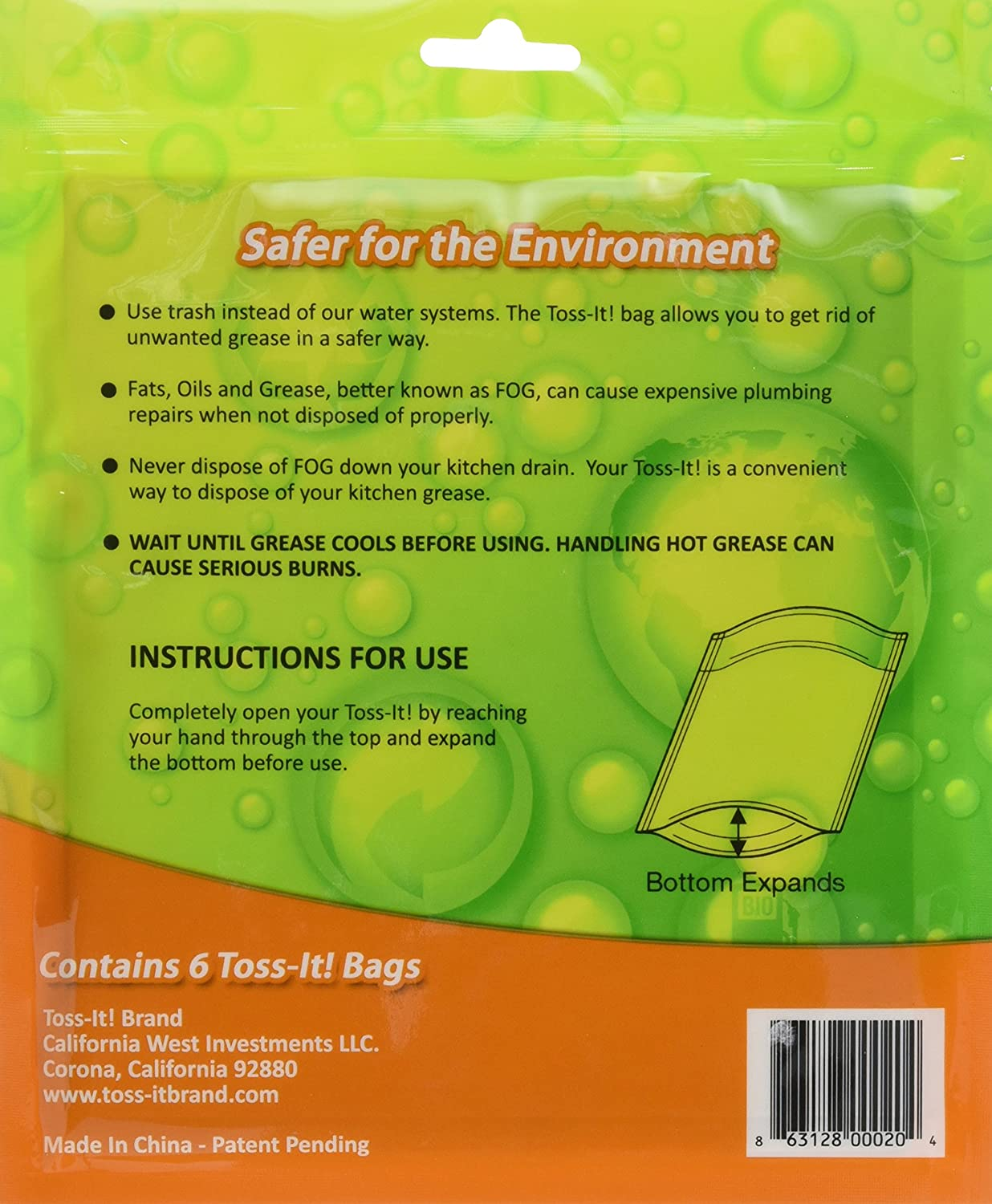 Amazoncom Toss It Bag Fill And Toss Away Unwanted Kitchen