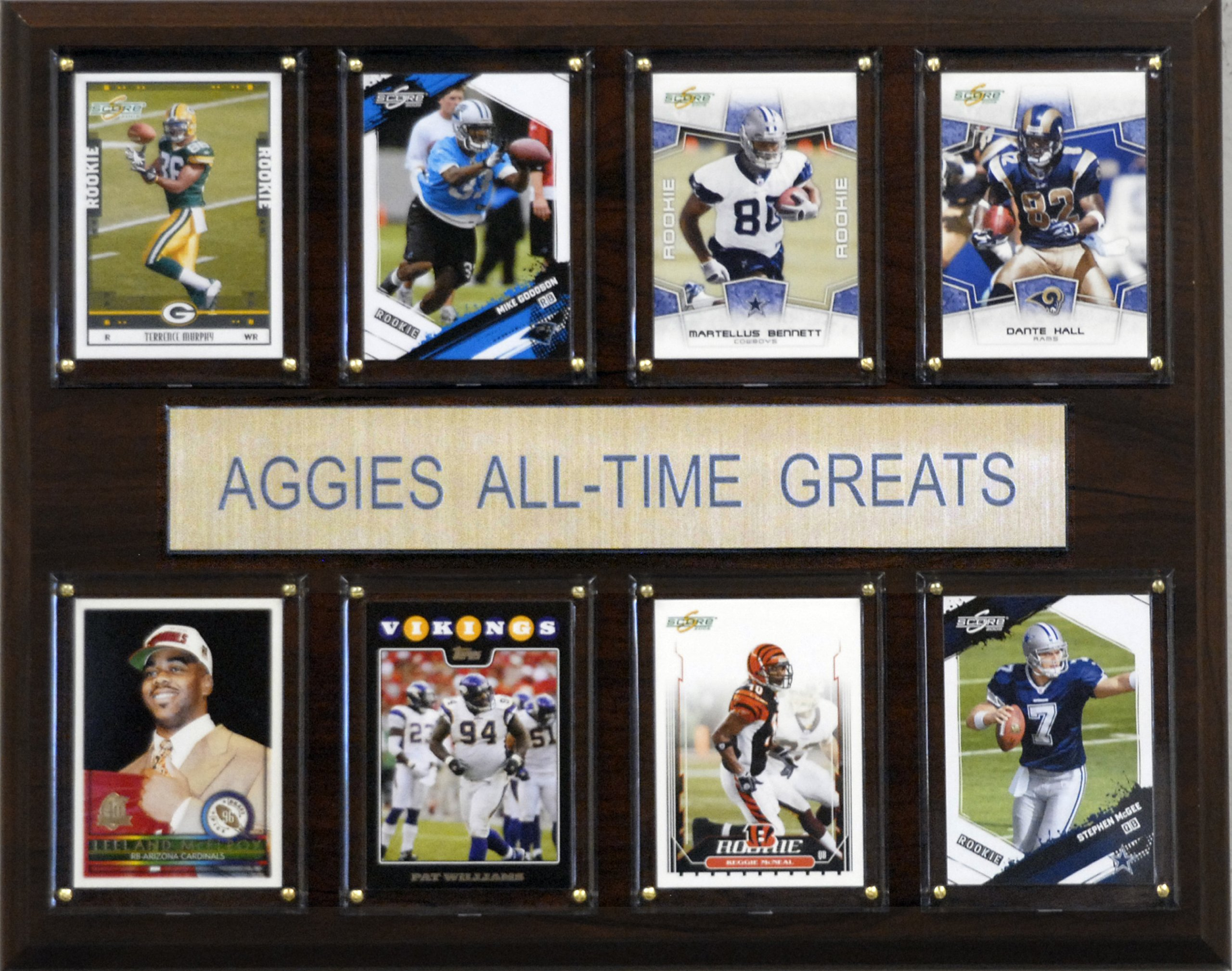 NCAA Football Texas A&M Aggies All-Time Greats Plaque