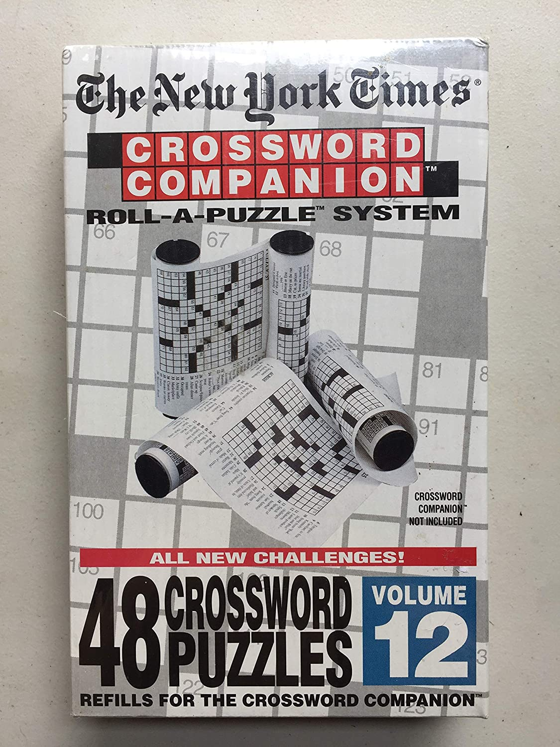 The New York Times Crossword Companion Roll A Puzzle Refills Volume 12