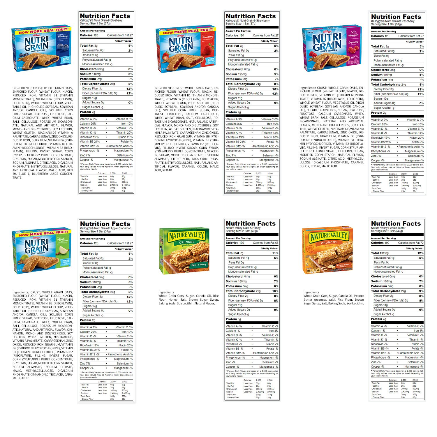 Healthy Bars Variety Pack Care Package (30 Count) by Duogreen (Image #2)