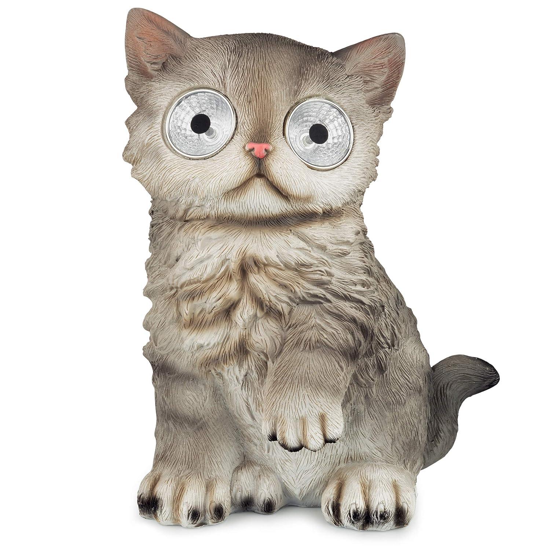 LED Solar Cat, Grey