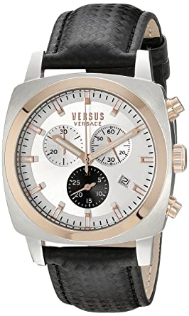 amazon com versus by versace men s soi070015 riverdale analog versus by versace men s soi070015 riverdale analog display quartz black watch