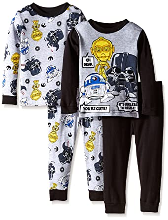 Star Wars Little Boys You R2 Cute 4-Piece Pajama Set