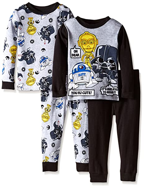 Star Wars Little Boys Le r2 Cute Pijama (4 Piezas)