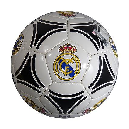 Balón Futbol Oficial REAL MADRID Circulos Negro  Amazon.es  Deportes ... 146367e8ab723