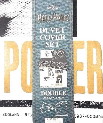 Funda Nordica Primark Medidas.Primark Home Harry Potter Dumbledore Single Double Kingsize Reversible Duvet Cover Set Kingsize