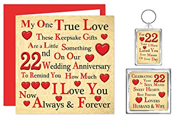 what is gift for 22nd wedding anniversary