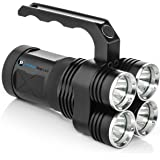 Worlds Brightest - 3500 Lumen High Power LED Rechargeable Spotlight - Portable and Easy to Carry.