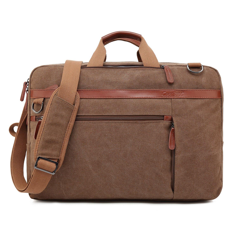 New Grey CoolBELL Convertible Backpack Shoulder Bag Messenger Bag Laptop Case Business Briefcase Leisure Handbag Multi-Functional Travel Rucksack Fits 17.3 Inch Laptop for Men//Women//Travel