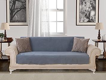 Amazoncom AntiSlip Armless 1Piece Sofa Throw Slipcover for