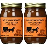 No Sugar Added Apple Butter - Two-16 Oz Jar