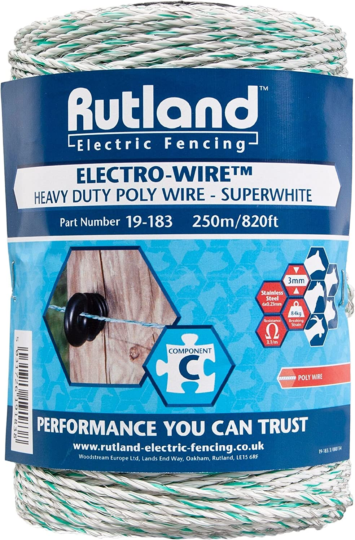 Rutland 19-184R Fil synthétique Electro-Wire - 500 m Blanc