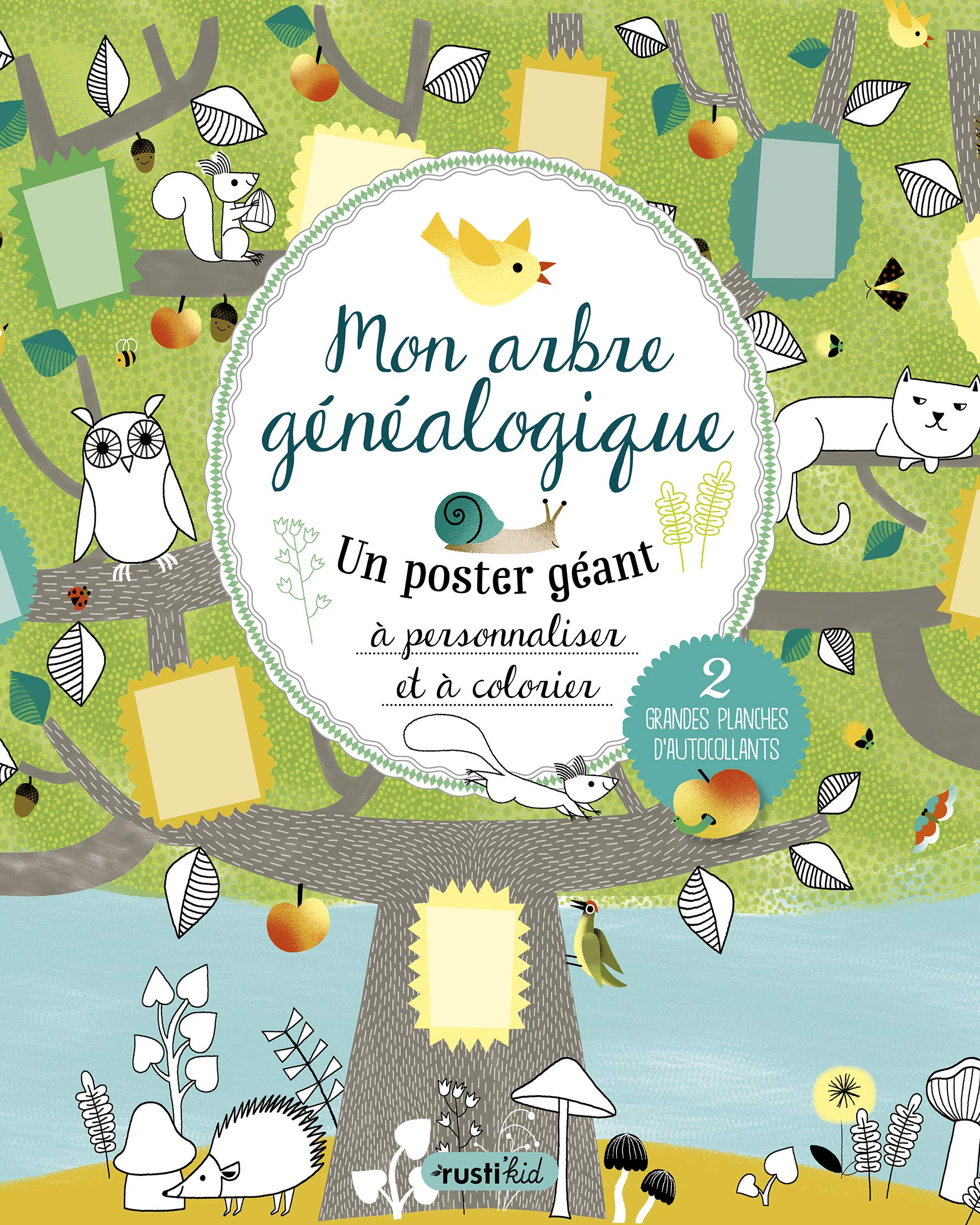 Coloriage Arbre Genealogique.Mon Arbre Genealogique Un Poster Geant A Personnaliser Et