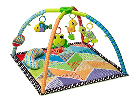Amazon.com : Infantino Twist and Fold Activity Gym, Vintage Boy : Early Development Playmats : Baby