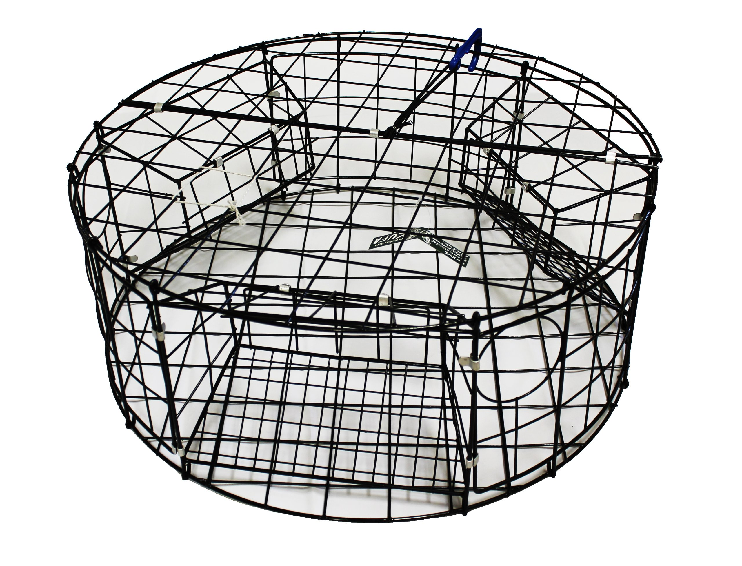 KUFA Vinyl coated Crab Trap (ø30''xx12''H) with 3 large entrance by KUFA Sports