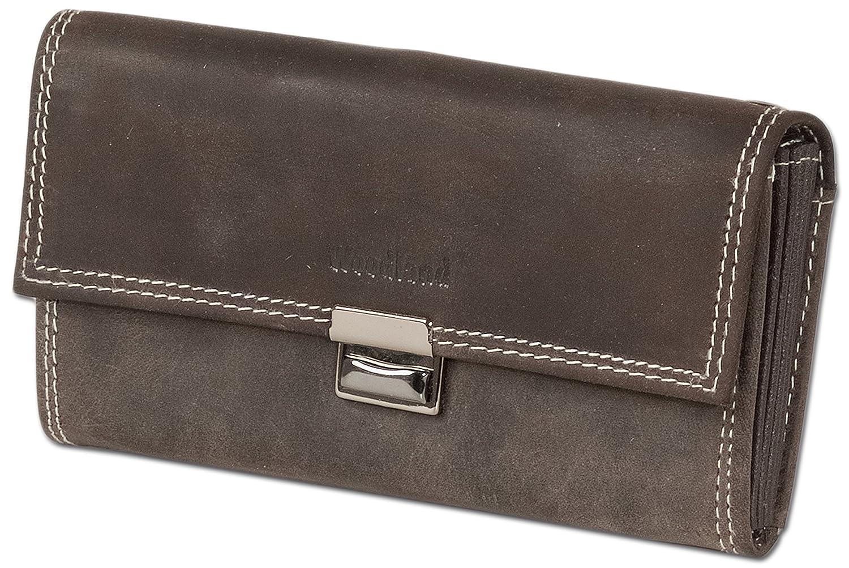 Wallet Woodland Cameriere con base rinforzata nella grande tasca portamonete in pelle di bufalo morbida naturale LM-International Europa GmbH 5542904