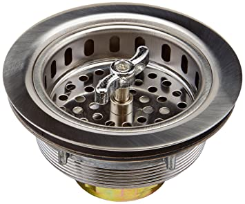 Keeney 1433SS 3 1/2 In Dia Twist And Lock Sink Strainer With