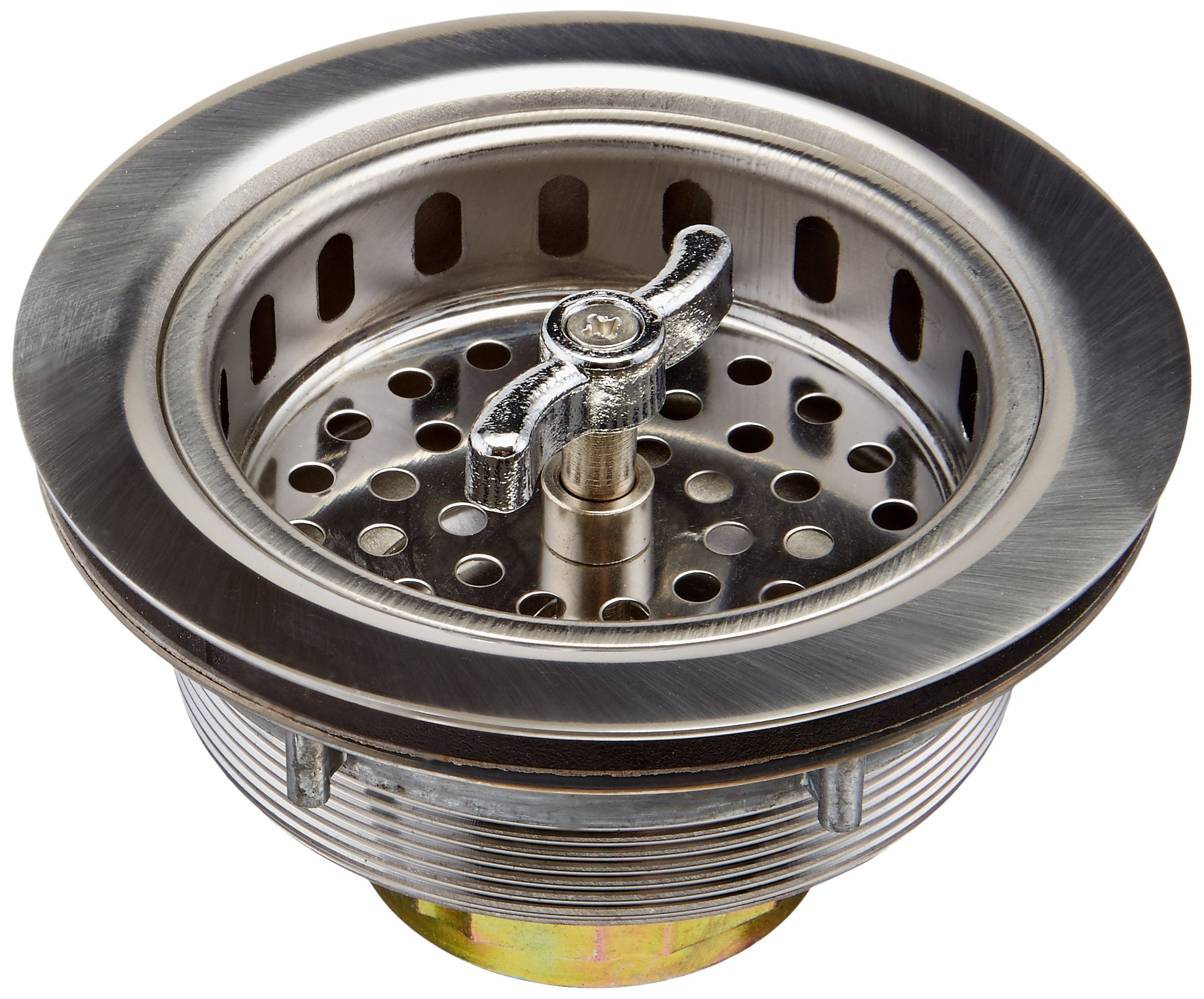 Keeney 1433SS 3-1/2-in dia Twist and Lock Sink Strainer with Basket, Stainless Steel
