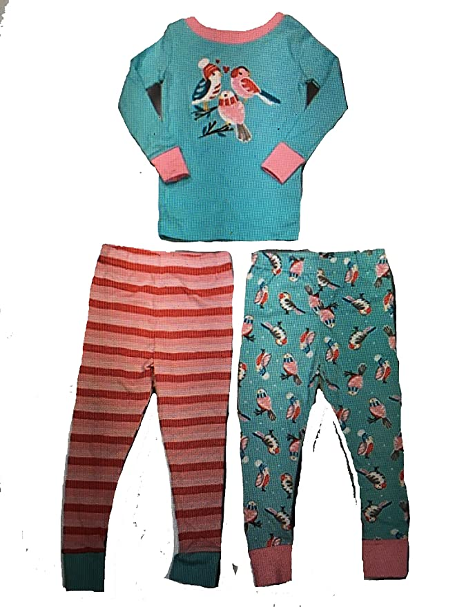 Kirkland Signature Boys 3 Piece Mix and Match Organic Cotton Pajama Set