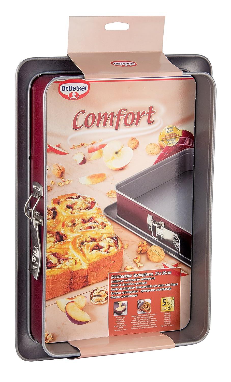 Dr. Oetker Comfort - Molde desmontable rectangular, 23 x 23 cm: Amazon.es: Hogar