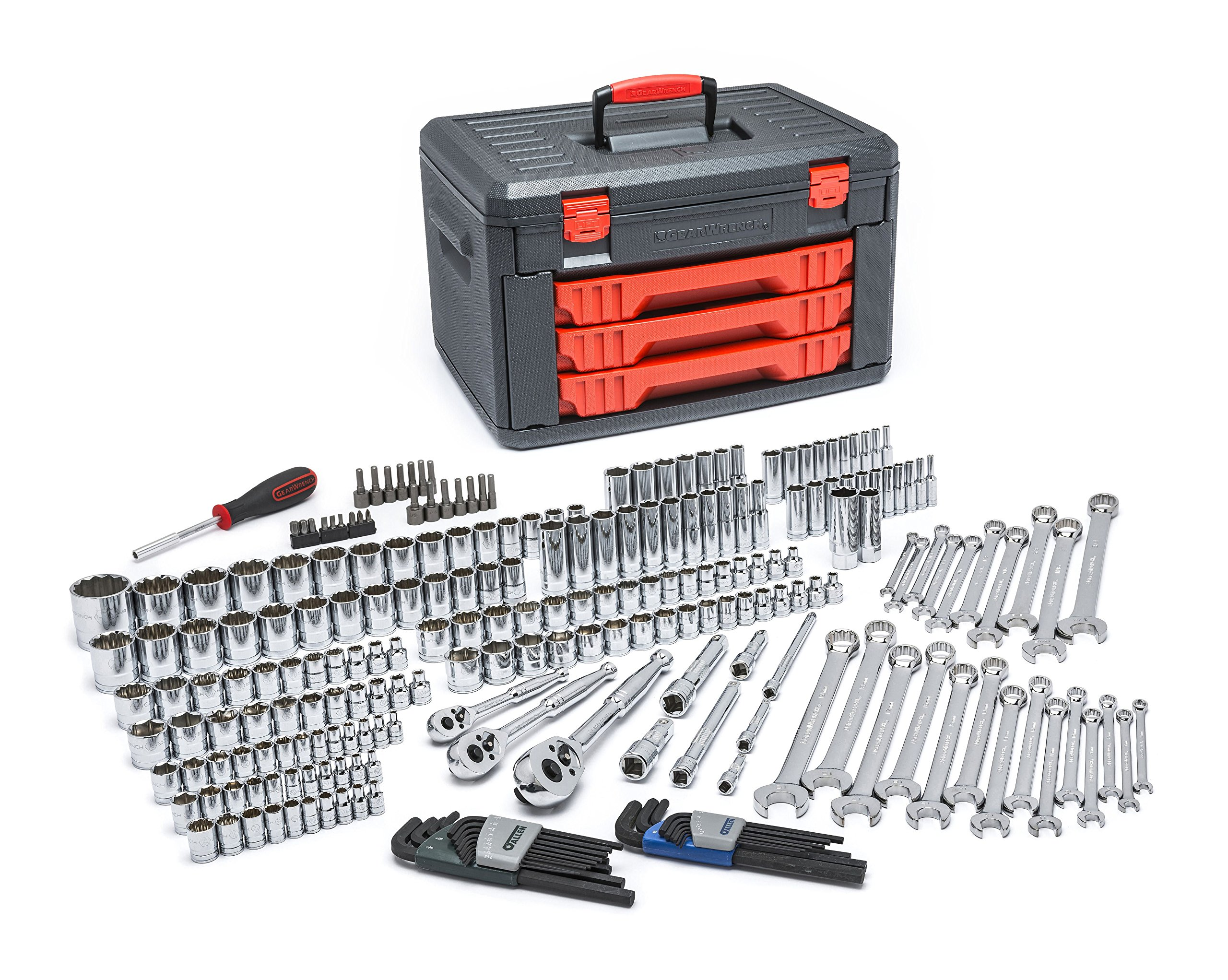 GearWrench TOOL 80942 239 Pc. 1/4'', 3/8'',1/2'' Drive Metric Socket/Ratchet Set