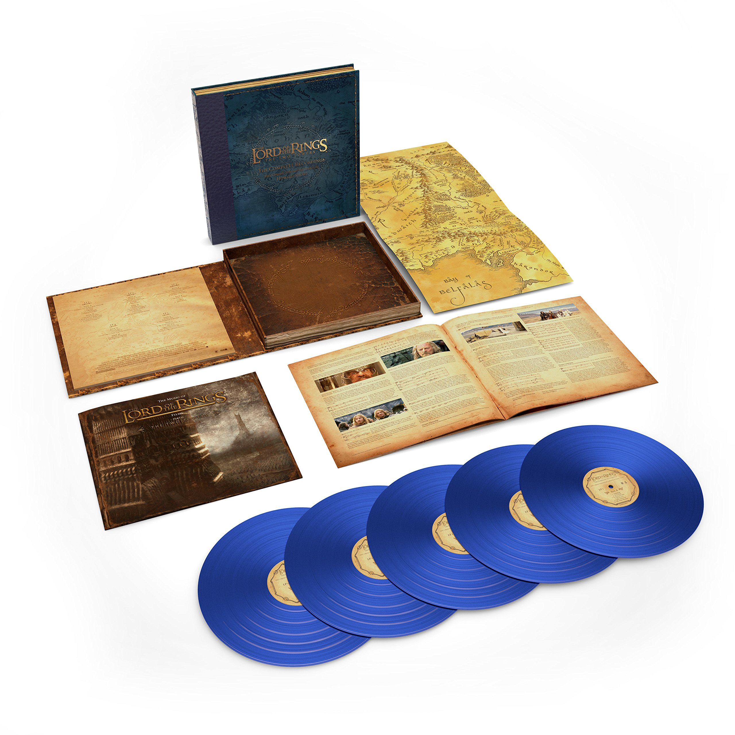The Lord Of The Rings: The Two Towers - The Complete Recordings (5LP 180 Gram Blue Vinyl)(Limited) by Rhino/Warner Bros.