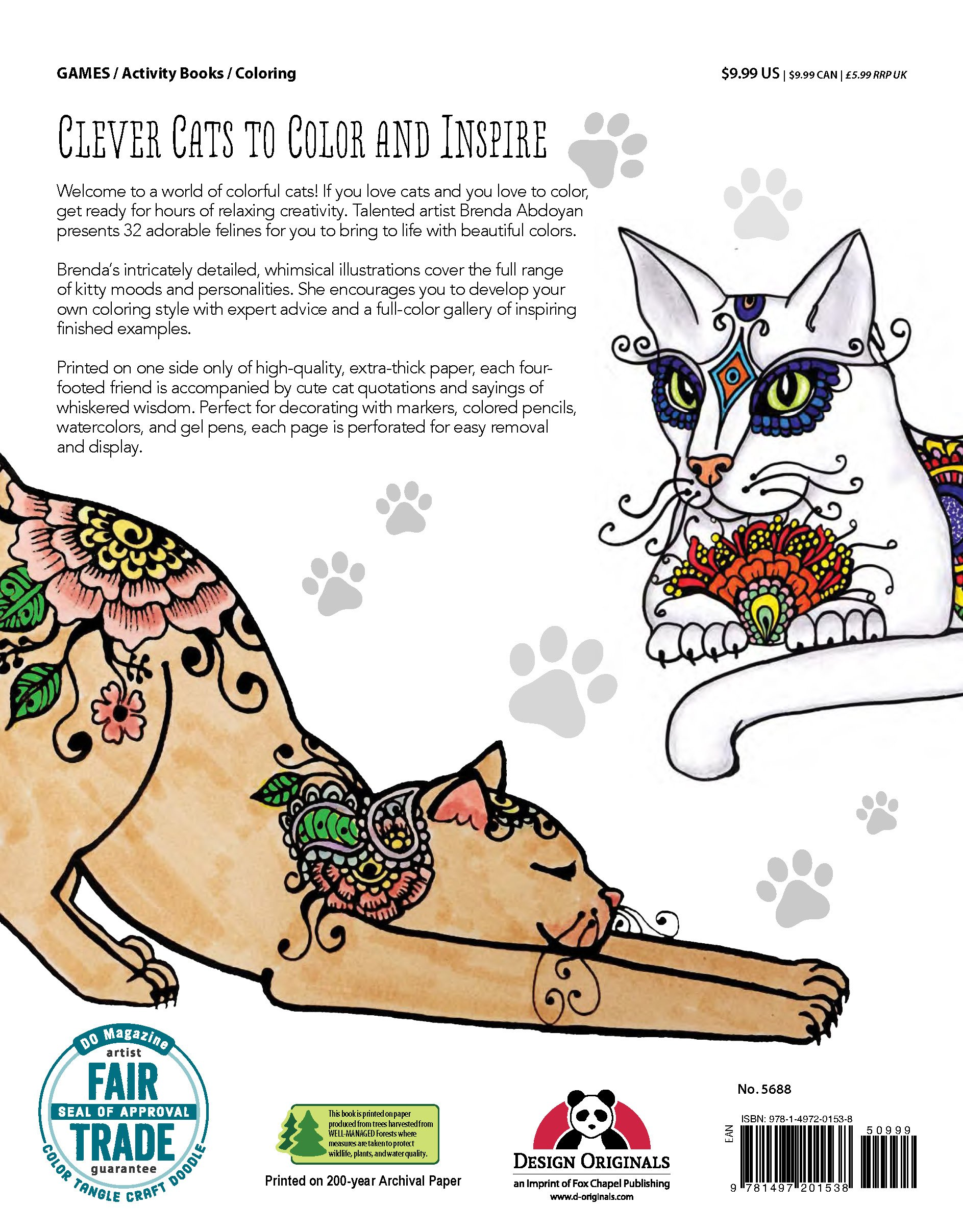 amazon com funky cats coloring book 0499993342721 brenda