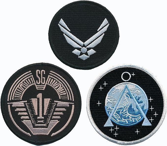 Stargate SG1 Group 1 Full Size Logo Shoulder 3 7//8 Wide Embroidered Patch