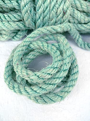 Amazon com: 100' (30 m) Blue Green Sisal Rope, Cyan Sisal Rope, Dyed